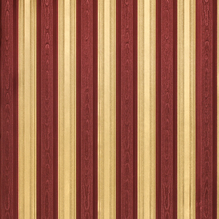 Gold striped wallpaper bedroom wallpaper directory for Red and brown walls