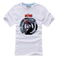 2015 Movie Ant-Man T-shirt Antman Superhero Scott Lang Cotton Short Sleeve O-Neck White Unisex Tops Tee Shirts Clothing