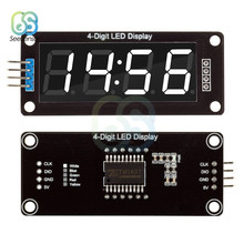 "TM1637 0.56 ""0.56 Inch 4-Digit Digitale Klok LED Display Buis 7 Segmenten Led Klok Dubbele Dots Module wit Display Voor Arduino(China)"