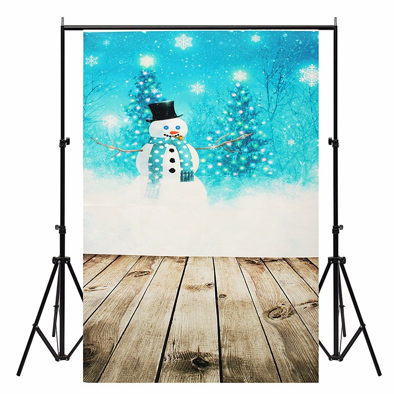 3X5FT Christmas Theme Snowman Scenery Vinyl photography Background photo studio props Photographic Backdrop 150cmX90cm snowman winter backdrop vinyl cloth high quality computer printed christmas photo studio background