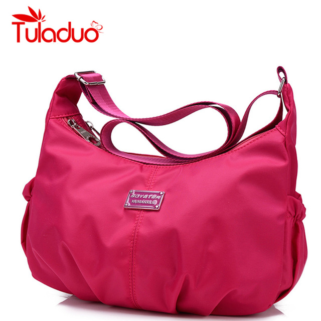 Mujeres Hobos Crossbody Bag Ladies Bolso de Ocio de Moda de Nylon Bolso de Viaje Ocasional Original Bolsas Bolsa de Bolsos de Mujer de Marca Monedero