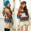 Hot Sale Women Loose Wool Sweaters ladies Casual Jumpers Tops Deer Pattern Pullover Knitwear Poncho 4 Colors 22