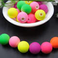 Top Quality 100pc 8mm  mix color Candy Color Acrylic fluorescent Rubber Beads Neon Matte Round Spacer Jewelry Handmade
