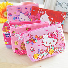 1pcs New lovely hello kitty canvas girl coin purse child change purse,lady students children key&cosmetic holder coin bag 048