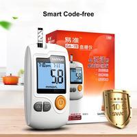 Blood Sugar Detection Glucometer With 50Pcs Strips 50Pcs Lancets Needles Diabetic Diabetes Gluco Meter Intelligent Speech U4