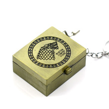 Drop Shipping Hogwarts Horcrux And Game of Thrones Music Box Keychain Key rings Classical Small Adorn Article For Women Men