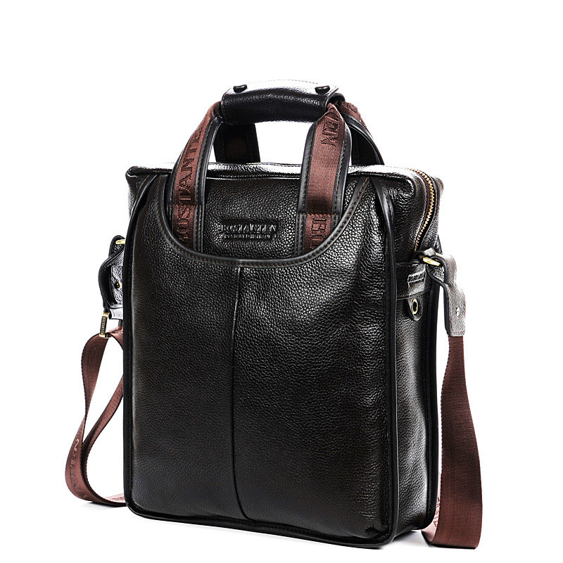Hot Genuine Leather Business Men Briefcase Men's Handbags Office Laptop Bag Male Casual Shoulder Computer Messenger Bags