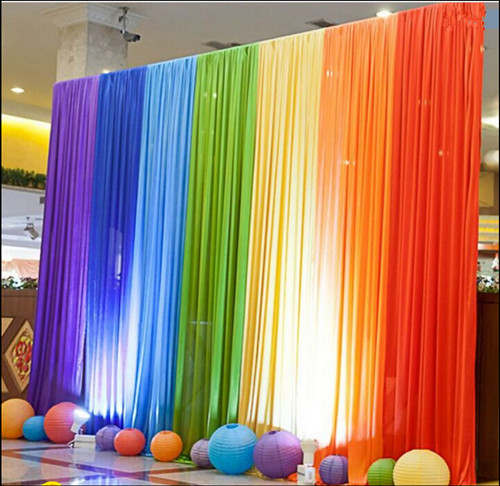 Rainbow Color Fabric BACKDROP Wedding Party Photobooth