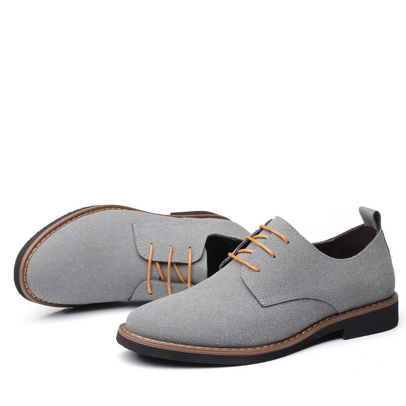 Marca de moda rebanho ROXDIA homens se vestem sapatos flats oxford homem calçados casuais lace up para o trabalho mocassins masculinos plus size 39-48 RXM116