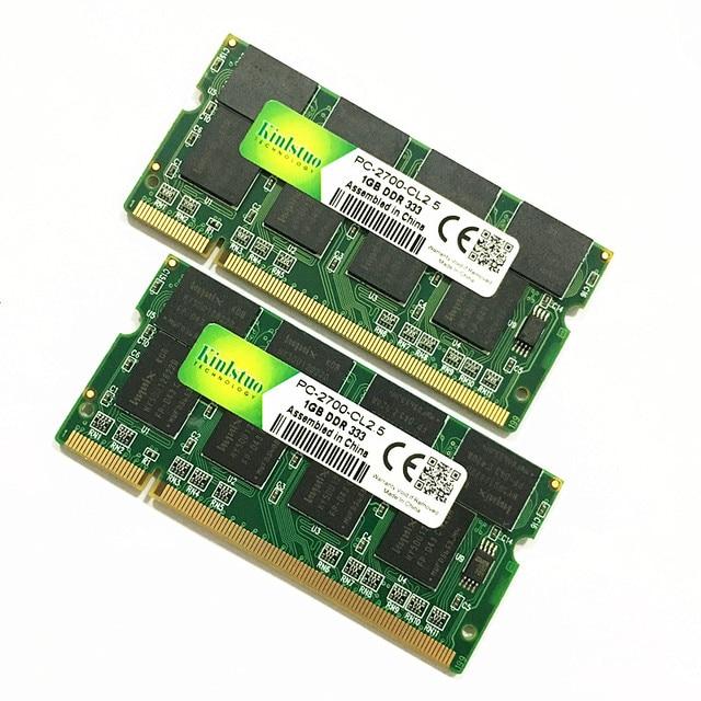 Kinlstuo Новый DDR1 1 ГБ ОЗУ PC2700 DDR333 200Pin Sodimm память DDR 1 ГБ Бесплатная доставка 2