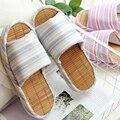 2016 Японский бамбук нижней полосы носком тапочки пара дышащий полу дома тапочки, сандалии и тапочки крытый