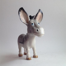 New Arrival Cute Resin Donkey European Pop Art Resin Craft Donkey Figurine Statue Artificial Best Christmas Gift, Free Shipping