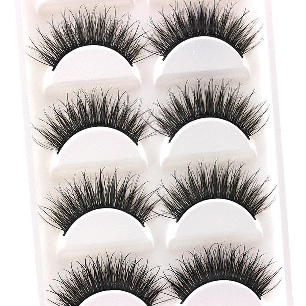 5Pair Luxury False Eyelashes 3D Mink Lashes Handmade Reusable Natural Curling Thick Eyelashes Popular False Lashes Makeup L525