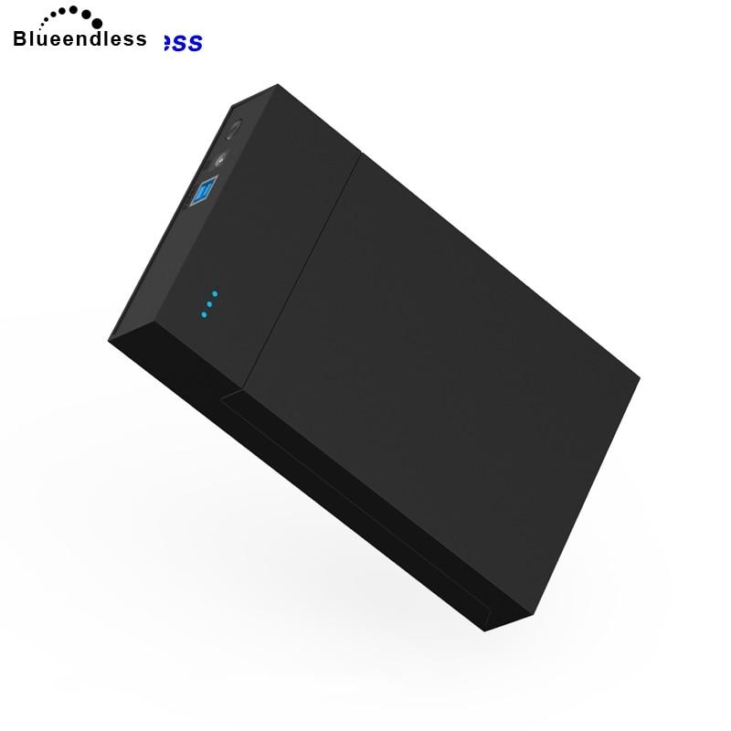 Disque dur externe Blueendless 1 to/3 to/4 to portable haute vitesse USB 3.0 boîtier sata hdd boîtier support 3.5 hdd boîte sans outil