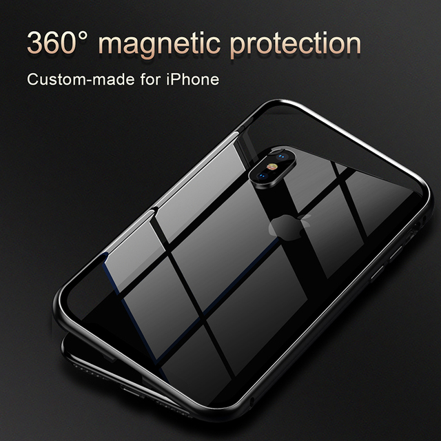 Magnetic Frame Tempered Glass Case – Apple iPhone