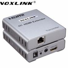 Voxlink 4 karat x 2 karat hdmi extender über 50 mt einzigen kat 5e/6 ethernet-kabel 1080 p 3d hdmi sender & empfänger mit ir-steuerung