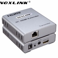 VOXLINK 4Kx2K HDMI Extender Over 50M Single Cate 5e 6 Ethernet Cable 1080P 3D HDMI Transmitter