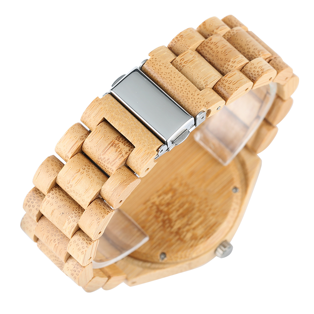 Luxury Natural Full Bamboo Wooden Watches Top Brand Luxury Men - Ерлердің сағаттары - фото 6