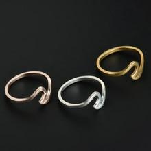 Metal Wave Rings Rose Surf Rings