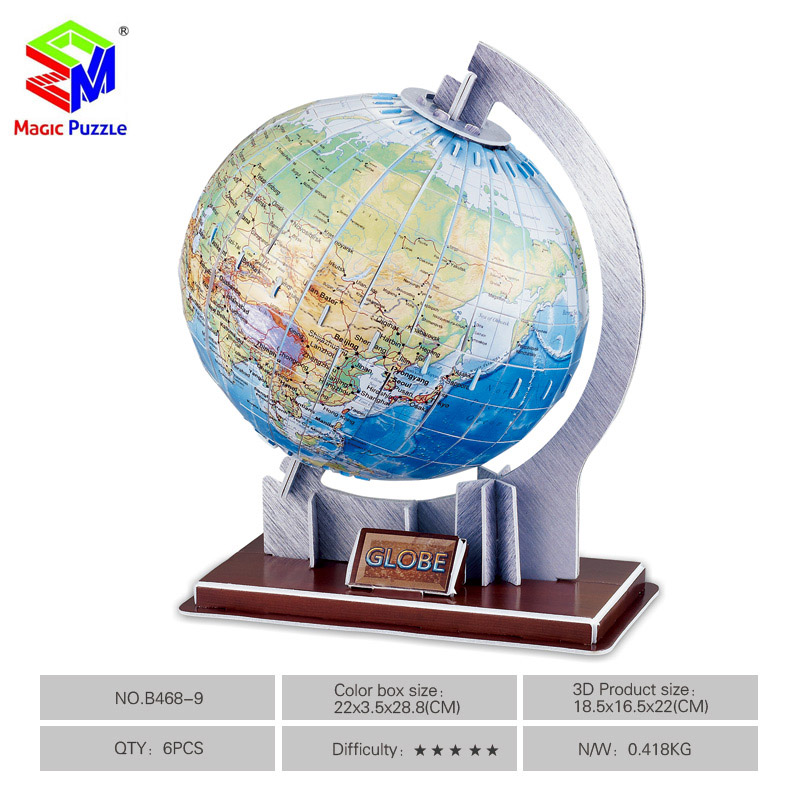 magic puzzle min 3d puzzle scale paper globe world map 3d pu