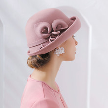 Frau Herbst Und Winter Party Formalen Hut England Mode Elengant Unregelmäßigen 100% Wollfilz Hüte