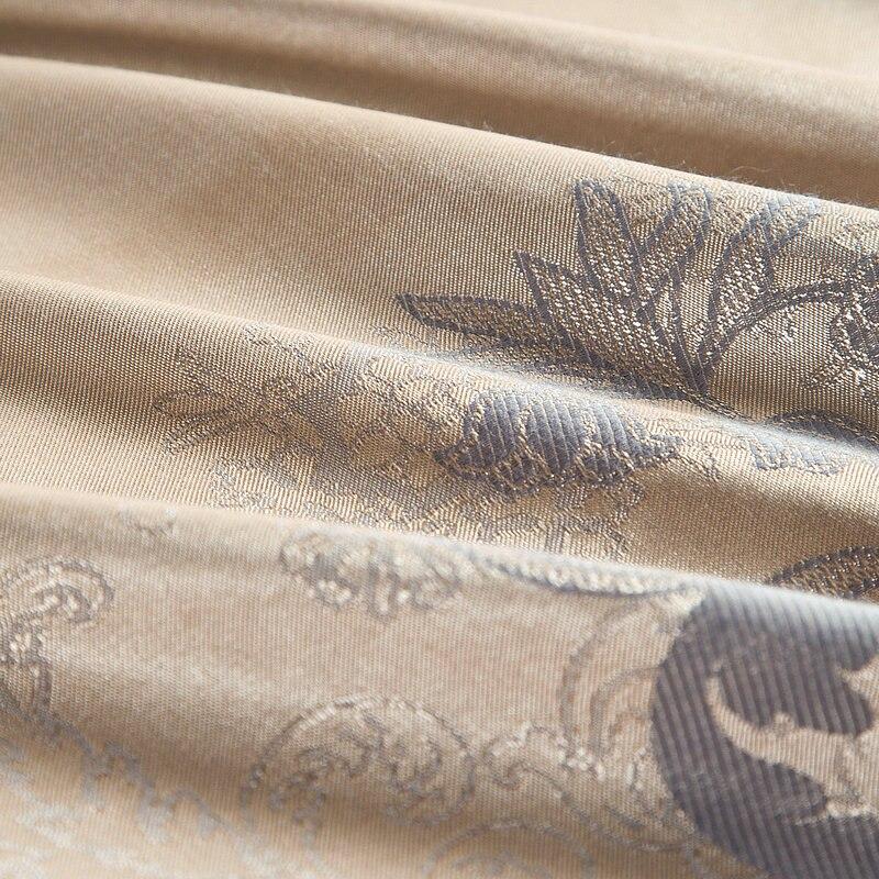Klassische Oriental Stickerei Jacquard Luxus Bettwäsche set König Königin größe 4/6 Pcs Seide Baumwolle Satin Bett gesetzt Bettdecke abdeckung Bettlaken - 6