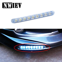 NWIEV 1Set Car LED DRL fog lamp Turn Signal with Yellow Steering For Peugeot 307 206 407 Citroen C4 C5 C3 Suzuki Grand Swift SX4