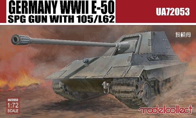 Modelo Coletar UA72053 1/72 WWII German E-50 SPG Gun Com 105/L62