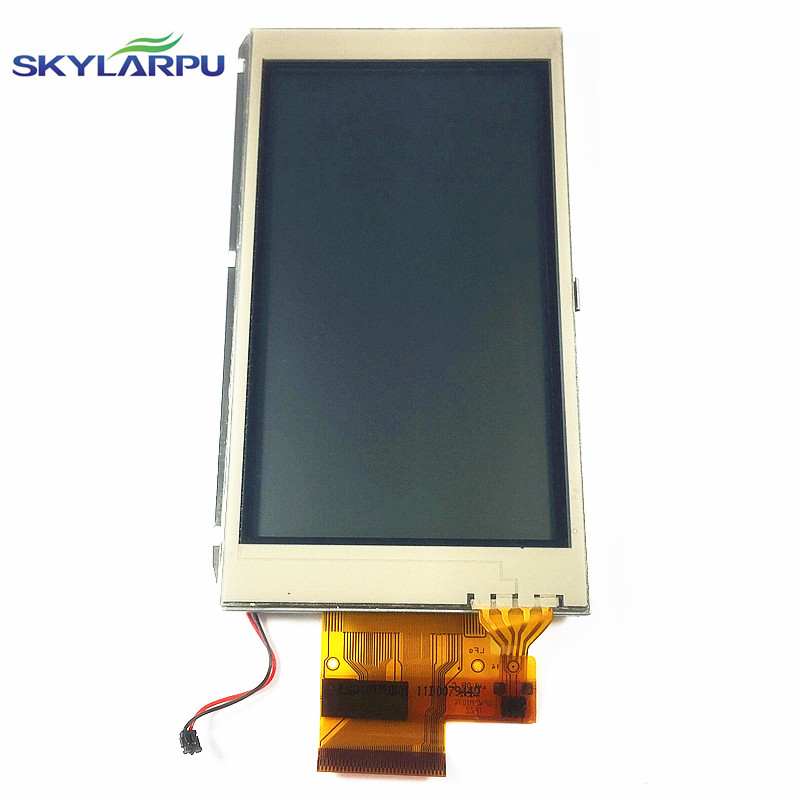 skylarpu 4 inch LCD screen LQ040T7UB01 for GARMIN MONTANA 650 650t Handheld GPS LCD display Screen with Touch screen digitizer skylarpu 3 inch lcd for garmin colorado 300 handheld gps lcd display screen without touch screen free shipping
