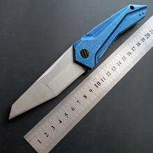Eafengrow 0055 Folding Knife S35VN Steel Blade Pocket knife CNC Stone wash  Handle Knives EDC Outdoor Hand Tool camping