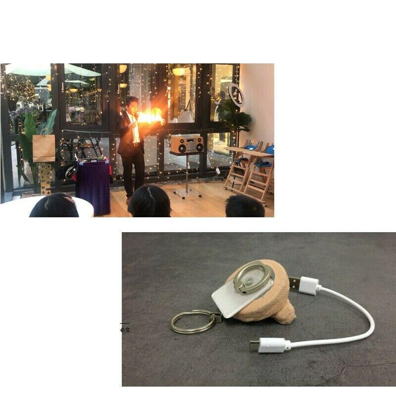 Bobine de feu ultime-acier, Flame Road 3.0 (Version de charge) tours de magie/de feu, Gimmick, accessoires de magie de scène, accessoires