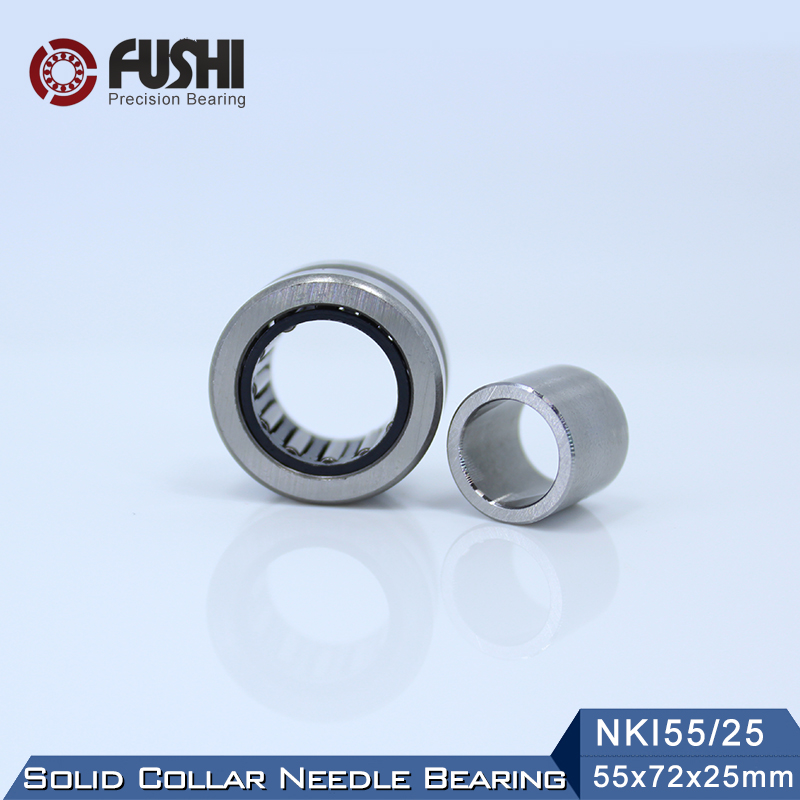 NKI55//25 Bearing 55*72*25 mm Solid Collar Needle Roller With Inner Ring 1 PC