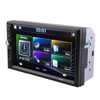 7 2 Bluetooth Camera Radio Double Player AUX USB FM MP5 Car Din Touch Stereo