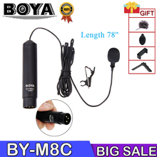 Boya BY-M8C Phantom Power Cardioid XLR Electret Condenser Microphone Lavalier mic acquire 48V with Windscreen&clip