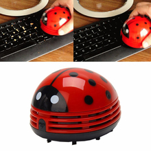 1pc Mini Ladybug Desktop Coffee Table Vacuum Cleaner Dust Collector for Home Office High Quality