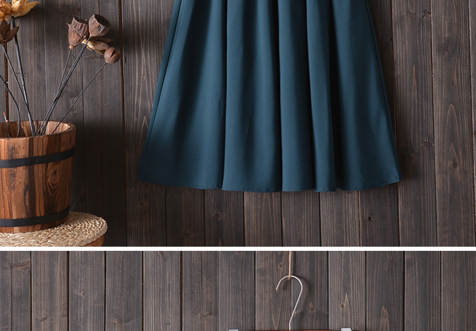 Surmiitro Midi Knee Length Summer Skirt Women With Belt 19 Fashion Korean Ladies High Waist Pleated A-line School Skirt Female 9