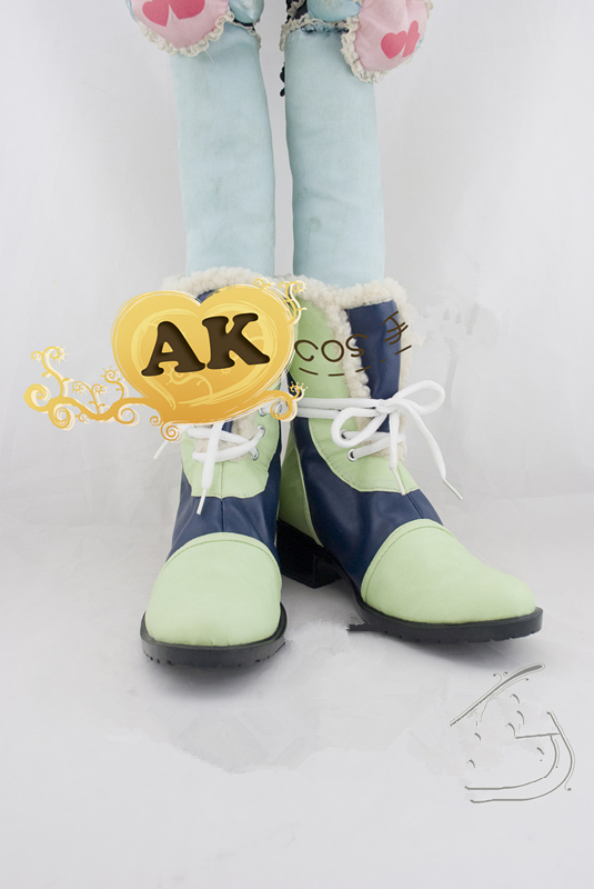 Anime DMMD Dramatical murder  noiz  shoes blue green cosplay Boots costum made