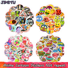 Anime Sticker Toys for Children Cartoon Aerospace Flamingos Emoji Funny Stickers for Kids DIY Laptop Suitcase Scrapbooking Bike(China)