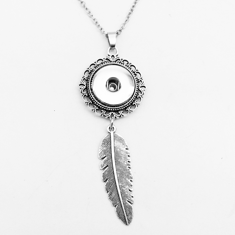 Newest OWL snap button jewelry necklace EA3123  (fit 18mm 20mm snaps)