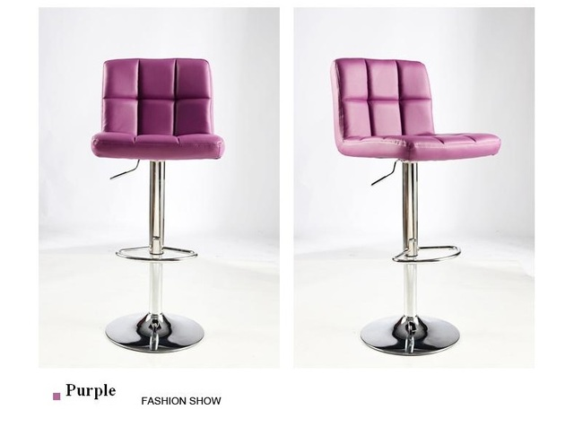 Colore viola della sedia del salone cambiare le scarpe sgabello
