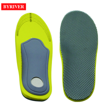 BYRIVER Foot Arch Support Massage Insole Sandals Flat Care Orthotics Correction Pads Plantar Fasciitis Brace