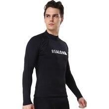Одежда с длинным рукавом серфинг костюмы с 2 мм неопрена супер стрейч Для мужчин Гидрокостюмы мокрого типа Термальность Топ Rash Guard для дайвинга купальник для серфинга