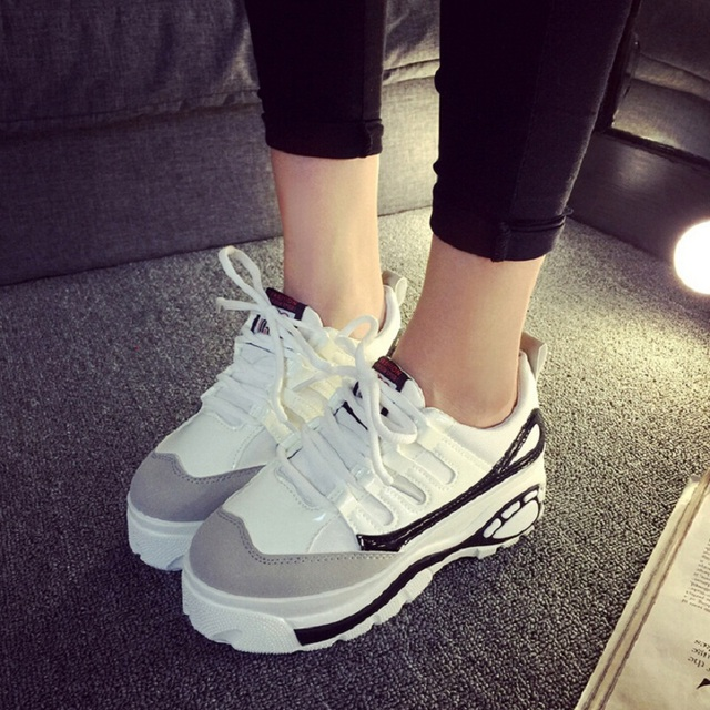 Women Creepers Japanese Style Platform Shoes Breathable Casual Shoes Women Harajuku Style Mesh Shoes X562 50