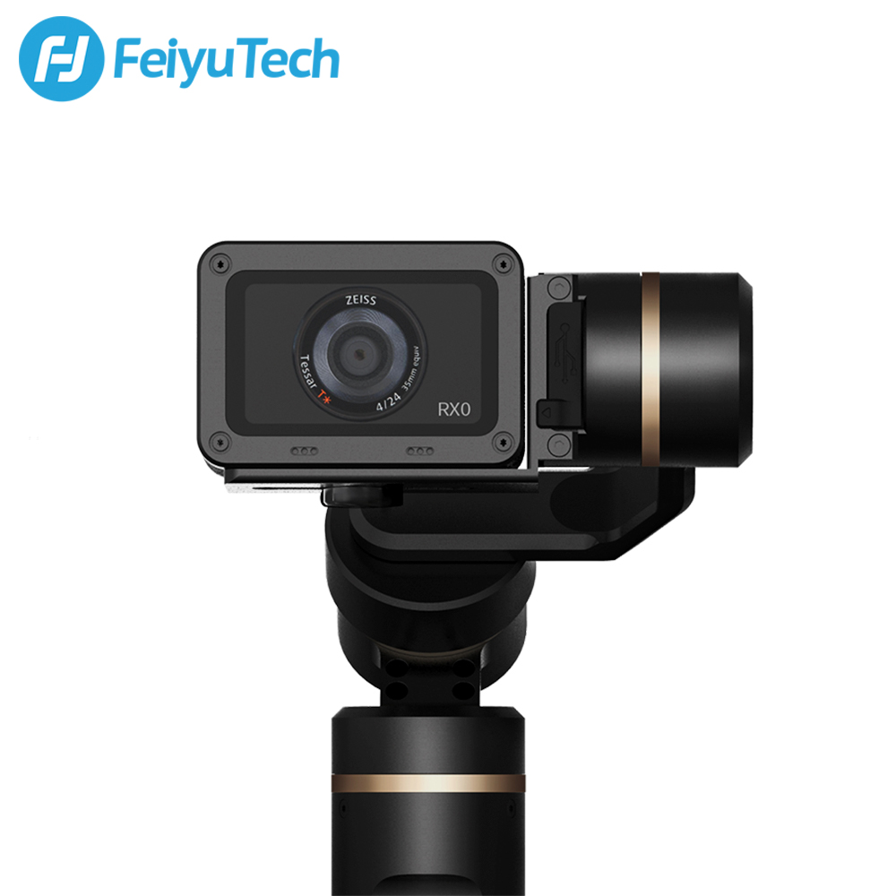 Image 3 - FeiyuTech G6 3 Axis Splashproof Gimbal for Update Version W fi+Bluetooth OLED Screen for Gopro Hero 7 6 5 Sony RX0 Action Camera-in Handheld Gimbals from Consumer Electronics