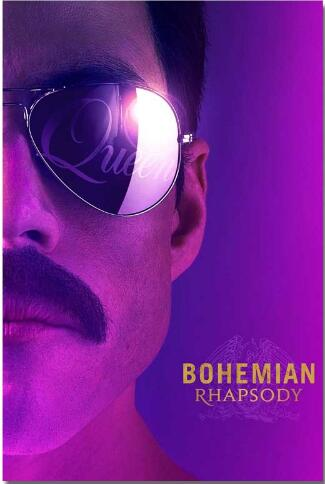 Bohemian Rhapsody Silk Queen Rock Music Band Musical Movie Posters Prints Wall Art Picture for Living Room Decor image