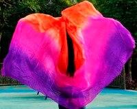 High Quality Women Seidenschleier Sexy Belly Dance Veil Scarf 100 Authentic Silk Veil Belly Dance Purple
