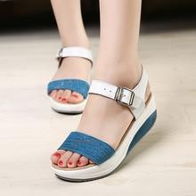 Genuine Leather  high heels sandals women woman 2018 summer