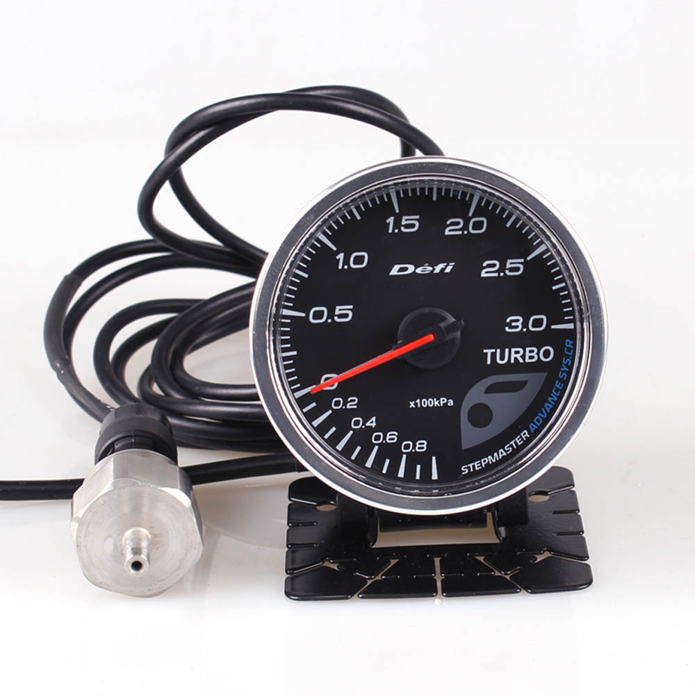 Defi Advance CR 2.5 Inch 60mm 7 Colors 0-3 Bar Turbo Boost Auto Gauge With Electronic Sensor прибор для авто defi ext temp 2 5 60 defi cr ext egt defi cr