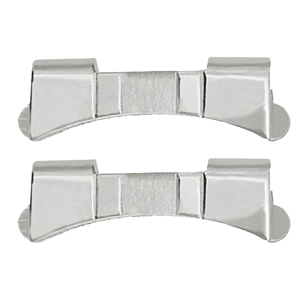 2 Pieces Premium Stainless Steel Watch Strap Link Curved End Repair 19mm/20mm/21mm/22mm/23mm/24mm