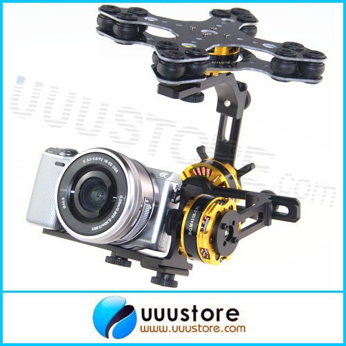 FPV BLG3SN DYS 3 Axis Brushless Gimbal With BaseCam SimpleBGC 32-bit controller(CNC case) FOR THE SONY NEX dys 3 axis gimbal controller 32 bits alexmos control board for fpv brushless gimbal